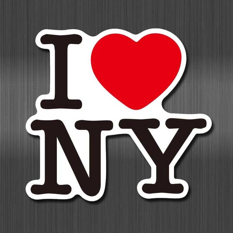 A0604 I Love New York Waterproof Sticker For Cars Laptop Luggage Skateboard Graffiti Cartoon Notebook Stickers