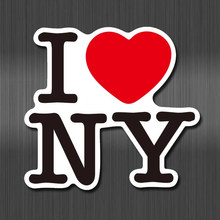 A0604 I Love New York Waterdichte Sticker Voor Auto Laptop Bagage Skateboard Graffiti Cartoon Notebook Stickers(China)