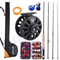 Sougayialng Fly Fishing Rod Set  2.7M 8.86FT #5/6  Fly Rod and Fly Reel with Fishing Bag Line Accessories Lures Box Combo