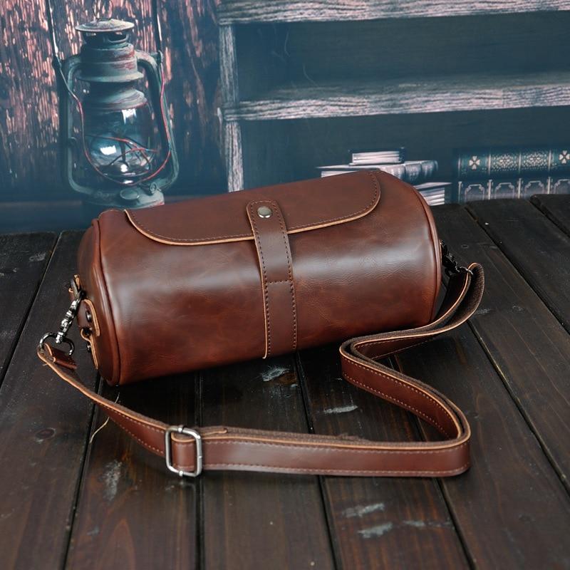 H8e5b9a3d18a745a2a9f8214e7c23054ev Fashion retro personality design cylinder bag