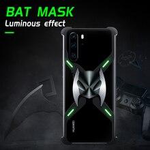 Luminous Aluminum Slim Magnetic Metal Protective Bumper Case For Huawei P30 Pro Shockproof Heat Dissipation Man Batman Superhero