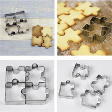 Cake-Mold Cookie-Cutter-Set Dessert-Bakeware Wedding-Decorating Stainless-Steel 4 Puzzle-Shape