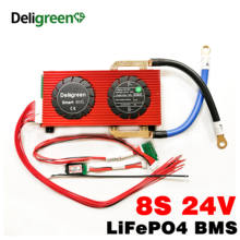 BMS with CAN communication 8S 150A 200A 250A Smart BMS LiFePO4 Battery BMS for 29.2V Battery pack with Battery SOC meter