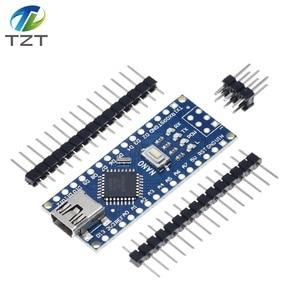 Image 4 - 10PCS Promotion Funduino Nano 3.0 Atmega328 Controller Compatible Board for Arduino Module PCB Development Board NANO V3.0