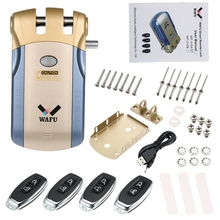 Wafu Wf-010 Wireless Electronic Door Lock Keyless Invisible Intelligent Lock With Press Locked&Unlock Button 4 Remote Control Ke