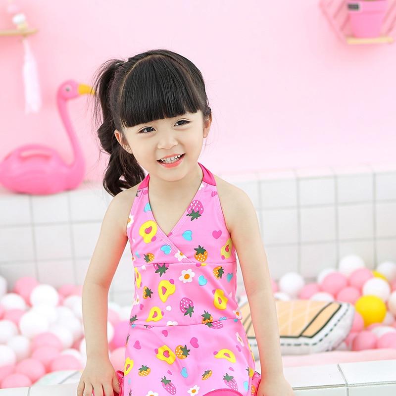 KID'S Swimwear GIRL'S Girls Children South Korea New Style Princess Siamese Swimsuit Female Baby Sexy Swimwear
