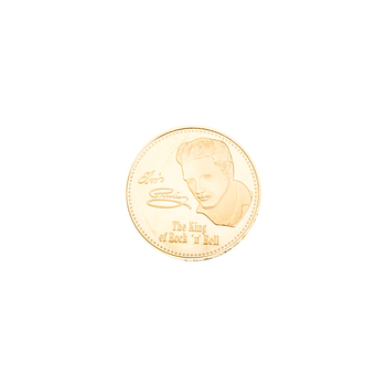 Elvis Presley Silver Gold Commemorative CoinElvis Presley 1935-1977 The King of N Rock Roll image