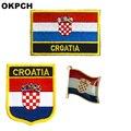 Нашивки с вышивкой в виде национального флага Хорватии, металлические значки для одежды