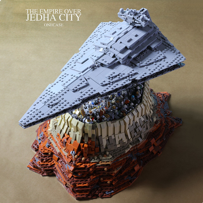DHL Mould King MOC 21007 5162Pcs Star Plan The Empire Over Jedha City Building Block Bricks Toy For Christmas Gift 18916 05027