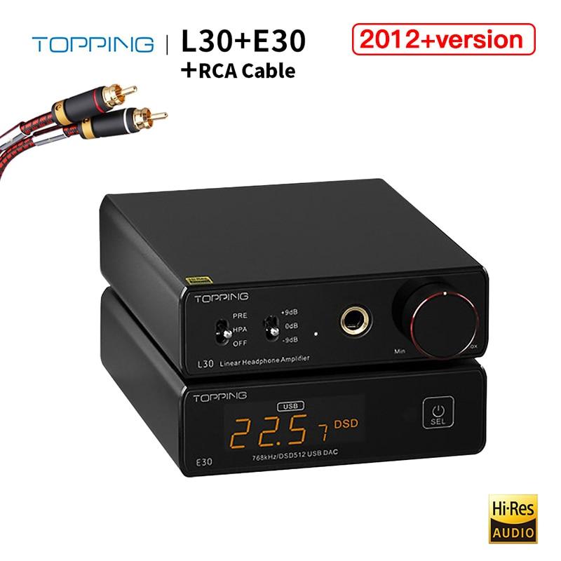 Усилитель для наушников TOPPING L30 + TOPPING E30 DAC L30 110 В 220 В Amp и декодер E30