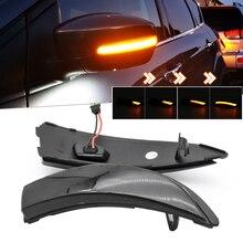 مصباح إشارة الانعطاف للمرآة الجانبية الديناميكية LED لسيارات Ford Fiesta MK6 VI /UK MK7 B Max 2008 2017 ، مصباح مؤشر متسلسل