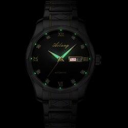 AILANG mężczyźni oglądać najlepsze marki luksusowe automatyczne mechaniczne biznes stali wodoodporny zegarek wojskowy mężczyźni zegarek Relogio Masculino