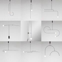 Oryginalność osobowości postmodernistyczne salon sypialnia nocna minimalistyczna doktryna geometryczną linią lampy i latarnie w Wiszące lampki od Lampy i oświetlenie na