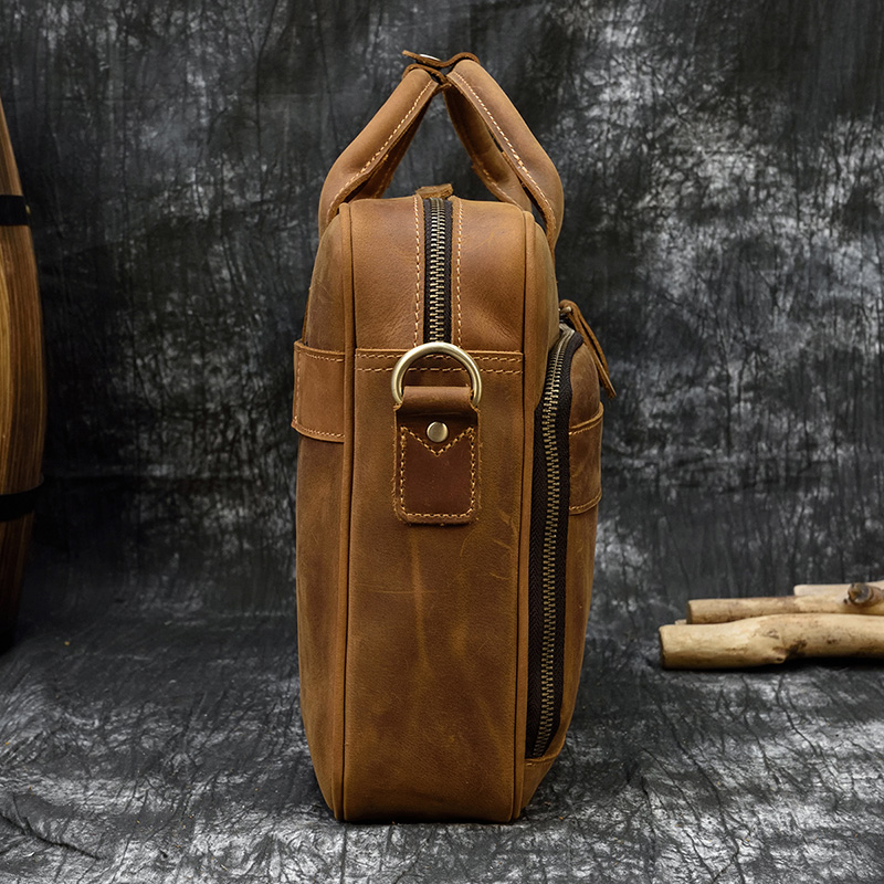 """H8e5c5edb925c4b7bb3f0f3e67c26bdf6u MAHEU Men Briefcase Genuine Leather Laptop Bag 15.6"""" PC Doctor Lawyer Computer Bag Cowhide Male Briefcase Cow Leather Men Bag"""