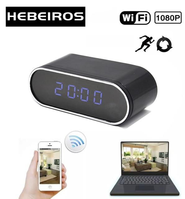 Hebeiros HD 2MP Pin Đồng Hồ Camera Mini IP WIFI Camera 1080P P2P Máy Quay Phim Ban Đêm Báo Động Chuyển Động Từ Xa Camera Quan Sát camera