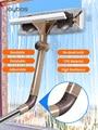 JOYBOS инструмент для очистки стекол, телескопический стержень, домашний двусторонний очиститель окон, скребок для высоких окон, инструмент д...