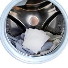 24pcs Wasmachine Gebruik Gemengde Verven Proof Kleur Absorptie Sheet Anti Geverfd Doek Wasserette Papers Kleur Catcher Grabber Doek