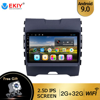 EKIY 9'' IPS Car Radio Android 9.0 Auto Stereo Multimedia For Ford EDGE Ranger 2015 2016 2017 2008 GPS Navi Navigation WiFi DVD image