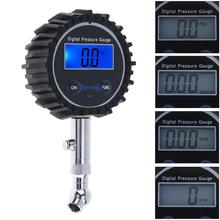 Portable Precision Electronic Digital Tire Gauge Meter Tester with Short Pressure Measuring Valve and Night Vision for Car Tyre