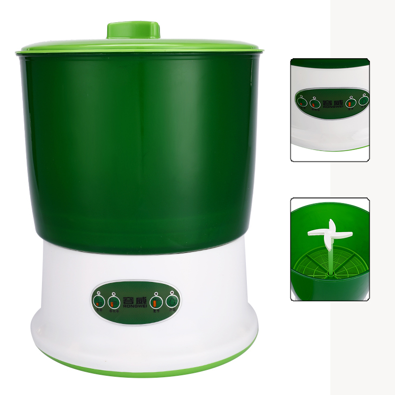Home Use Intelligence Bean Sprouts Machine Large Capacity Thermostat Green Bean Sprout Machine Automatic Seeds Growing