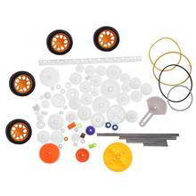 78pc  Plastic Gear Wheel Pulley Rack Shaft Belt SET Kids Gift Toy Accessory DIY