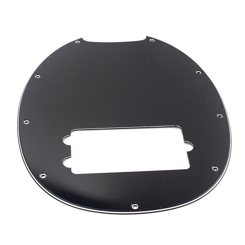 Plastic 3-Ply Pickguard Anti-Scratch Plate Black For Musicman 4 String Bass Guitar Accessory
