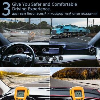 غطاء حماية لوحة القيادة لبيجو 301 2012 ~ 2019 اكسسوارات السيارات داش مجلس ظلة السجاد المضادة للأشعة فوق البنفسجية 2015 2016 20117 2018