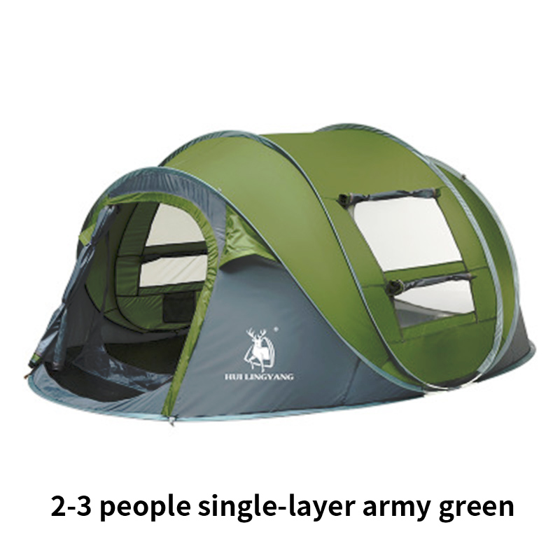 2-3 Person Camping Throw Tent  Automatic Open Ultralight Waterproof Beach Tents Outdoor Hiking Large Family Tent Acampamento