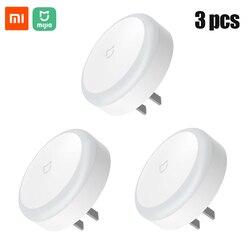 Xiaomi-luz nocturna Mi Mijia para niños, lámparas LED inteligentes de noche con Control infrarrojo de 220V, luces fotosensibles con Interruptor táctil