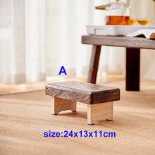 Mini tabouret bas en bois pliable et rectangulaire, ancien, Portable, Style japonais, tapis Tatami, meuble traditionnel asiatique