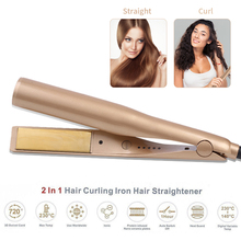 2 in 1 Twist Hair Curling & Straightening Iron Hair Straightener Hair Curler Curling Iron Wet & Dry Hair Styler Styling Tools curling wand 5p ceramic hair curler curling iron cone hair styler 09 32mm interchangable multi size curling iron conical dry wet