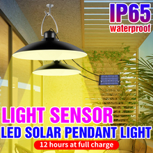 Outdoor Waterproof Double Head Solar Light LED Camping Lamp 15W 20W Emergency Lamp With Solar Panel Hanging For Garden courtyard