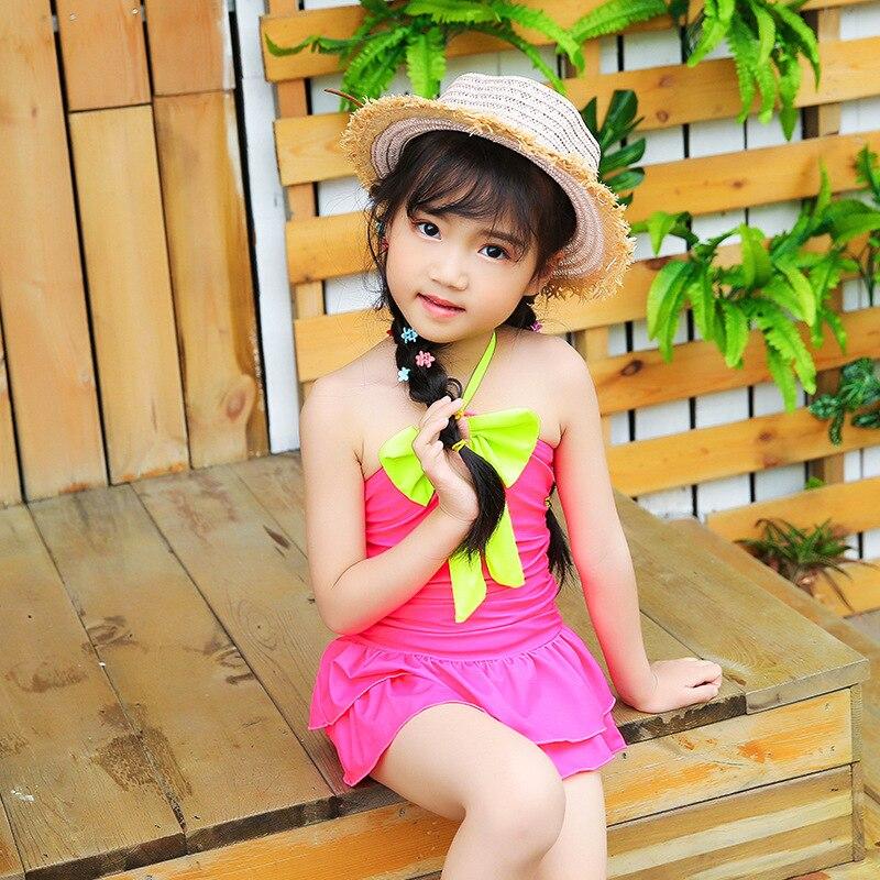 KID'S Swimwear Women's Cute Princess Small CHILDREN'S Girls South Korea Small CHILDREN'S Baby Dress-Triangular GIRL'S Swimming S