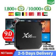 Arabic Spain IPTV Box X96 mini Android 9.0 TV Box