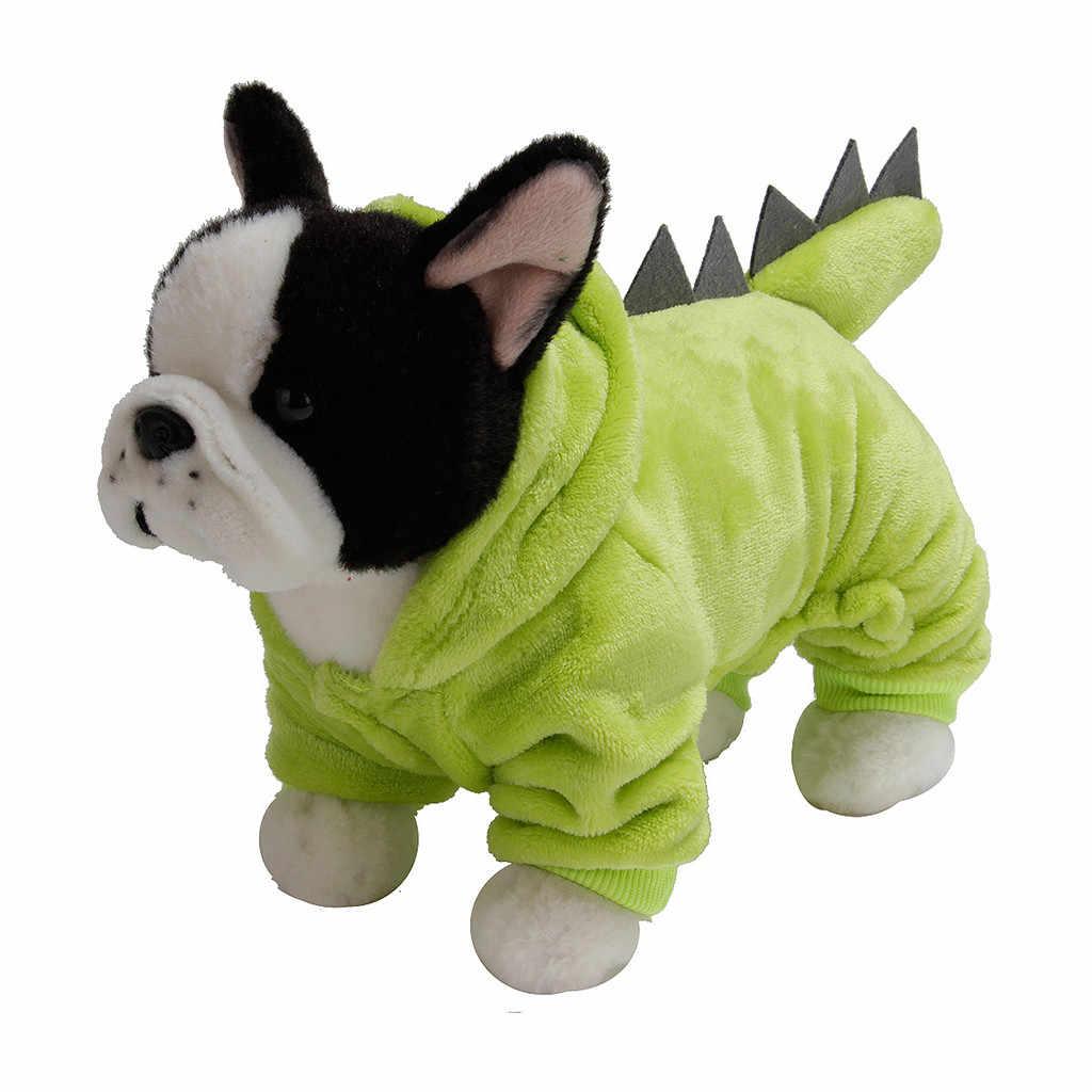 Hond Winter Dinosaurus Print Hooded Kleding Hond Lange Mouw Top Hond Jas T-shirt Winter Warm Sweatshirt Ropa Para perro * 5