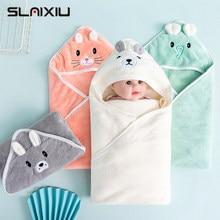 Bebê cobertores bebê com capuz toalhas recém-nascidos crianças roupão super macio toalha de banho quente dormir swaddle wrap para meninos infantis meninas