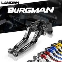 Para suzuki burgman 650 motocicleta ajustável folding extensível embreagem do freio alavanca burgman650 2003 2018 2013 2014 2015 2016 2017