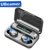 Ubeamer Bluetooth 5.0 Earphones Sport Waterproof Wireless Earbuds Noise Cancellation TWS Headphone with Microphones,80H Playtime
