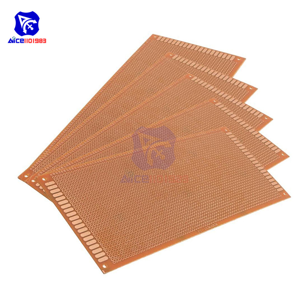 Diymore 5PCS/Lot 10x22cm 10*22CM DIY Bakelite Plate Paper Prototype PCB Universal Experiment Matrix Single Sided Board