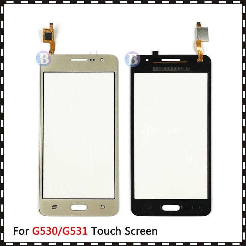 10Pcs/lot For Samsung Galaxy Grand Prime Duos G530 G530H G530F G5308 G531 G531H G531F Touch Screen Digitizer Sensor Glass Panel