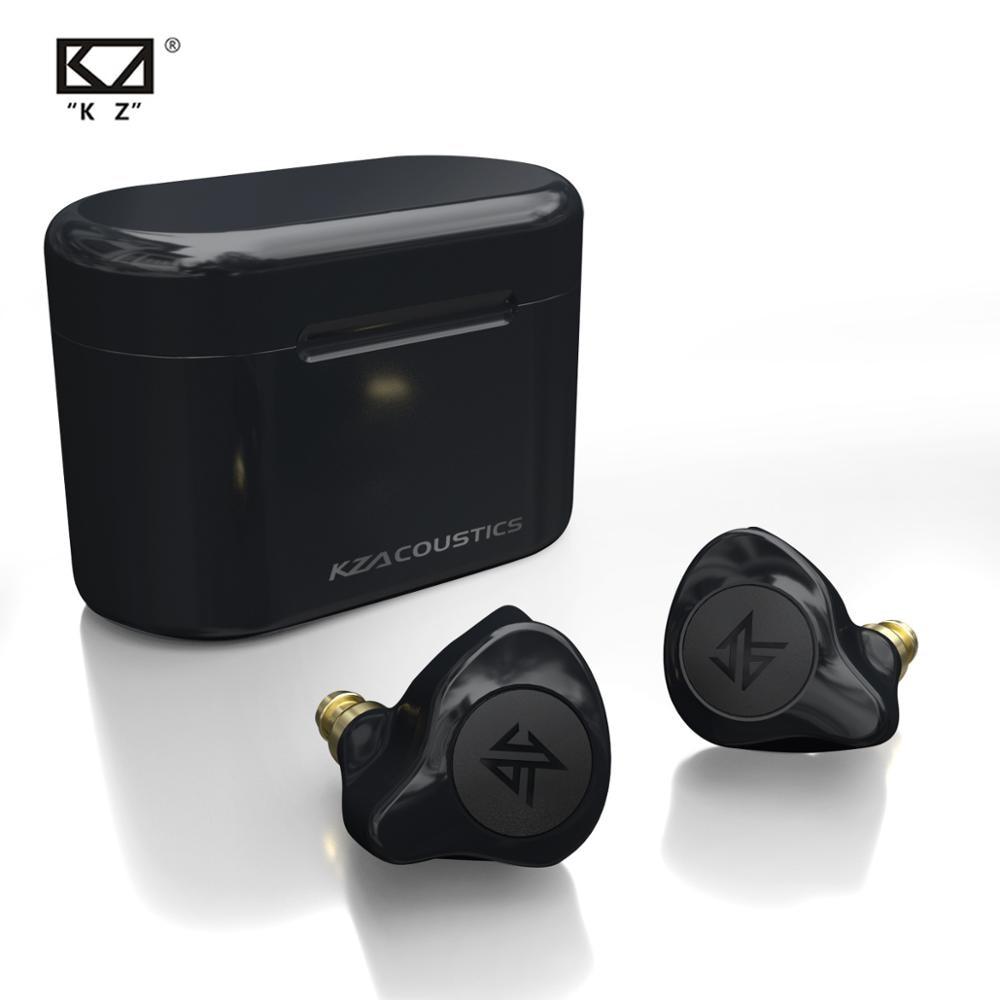 Kz s2 verdadeiro sem fio tws fones de ouvido bluetooth v5.0 híbrido 1dd + 1ba jogo controle toque com cancelamento ruído esporte fone ouvido