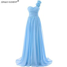 лучшая цена 100% Real High Quality Cheap Bridesmaid Dresses Under 50 Long Chiffon One Shoulder Wedding Guest Dress