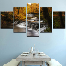 5 Planes Waterfall Room Decor Canvas Art Painting Picture Photo Living Office for Women and Men