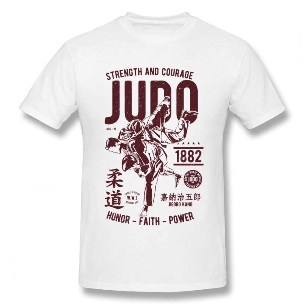 STRENGHT AND COURAGE JUDO 1882  FAITH POWER T SHIRT  Tee Unisex Unique Design T Shirt Cotton Big Size Homme T-shirt