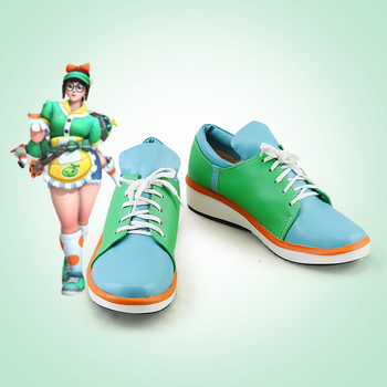 OW Mei Skin Cosplay Shoes Boots Honeydew Skin Halloween Carnival Maid Cosplay Costumes and Accessories For Adult Women Free Ship image