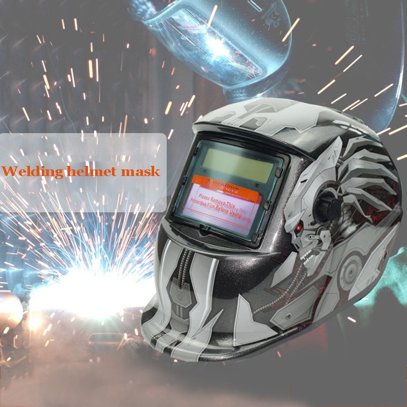 Skull Pattern Solar Auto Darkening Welding Helmet Mask Grinding Welder Mask Welding Protective Gear