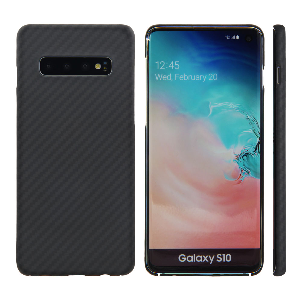 100% Real Carbon Fiber And Kevlar For Samsung Galaxy S10 S10plus 0.6Mm Thin Slim 3D Lens Full Body Protective Case Cover
