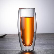 New Double Wall Insulated Glass Cup Heat-resistant Double Layer Coffee Cup Drinking Glasses For Tea Coffee Champagne Wine