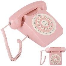 ヴィンテージ電話デスクトップレトロアンティーク電話クリアなサウンド/大ボタン高精細音質電話ホーム/オフィス