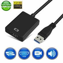 USB 3.0 al Convertitore di HDMI Cavo Adattatore USB a HDMI Scheda Video Esterna Multi Monitor Adattatore per Finestre 7/8/10 del computer portatile